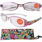 11011 Patent Fashion  Reading Glasses W/Suede Material Pouch For Women