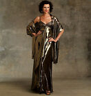 PATTERN VOGUE Evening Dress Wrap Designer Badgley Mischka Sewing 1079 6 to 22