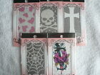 Skull Dagger Rose Web Heart Jewel Stickers ~ Mobile Phone ~ MP3 ~ Laptop ~ Pads