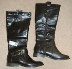 EVIE SIZE 3 BROWN FAUX LEATHER FLAT RIDING STYLE BOOTS  **BRAND NEW RRP £30.00**