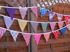 Handmade Fabric bunting 12ft 12 Flags £4.50 each  Buy 2 receive 3 No waiting