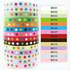 """3/8"""" 5/10/100 yds multi color star grosgrain ribbon you pick up choose craft bow"""