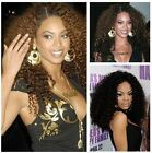 "jerry curly human hair lace front wigs/ full lace wigs 18"" tight curl long wigs"