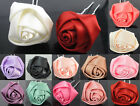 6pcs 10pcs 20pcs Silk Rose Flower Hair Pin Clips Wedding Bridal Party Jewellery