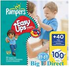 Pampers Boys Girls Easy Ups Baby Diapers Size 4 5 6 (16-37+ lbs) 100 90 78 ct