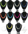 Hot New 10colors Snake Wide Chain Flat Curb Link Bib Choker Necklace