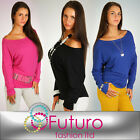 ☼ Amazing & Sexy BAT Style Top ☼ Batwing Tunic Open Shoulder Sizes 8 - 18 FT965