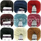 Wool-Acrylic Blend Yarn Tumfy Italian Worsted Weight 98 yards 10 Colors