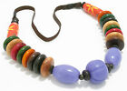 Goose Island Wooden Multi Coloured Beaded Necklace