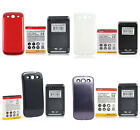 4500mAh Extended NFC Battery+Charger for Samsung Galaxy S3 III i9300 +White case