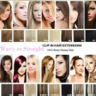 New Clip In Remy Human Hair Extensions Half&Full Head Any Color Any Length 120g