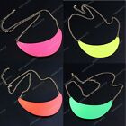 Fancy Chic Fluorescent Color  Moon Shape Necklace Semicircle Collar Boho Fashion