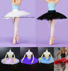 NWT Ladies Professional Ballet Hard Organdy Platter Tutu Skirt Dance Dress 6colo