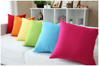 "Candy Colors Simple Plain Design Micro Suede Pillow Case Cushion Cover 19"" PG"