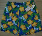 ROUNDTREE & YORKE MENS CARIBBEAN PRINT NAUTICAL FLORAL SWIM TRUNKS LIST $45