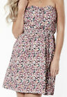 WOMENS NEW SHORT PLAYSUIT FLORAL LADIES DAY DRESS 8-14