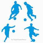 FOOTBALLERS STICKER PACK football players bedroom wall art stickers door boys