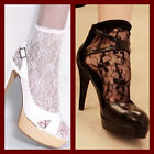 Sexy Therapy All Over Lace Ankle Socks Fashion Ladies Black White