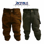 BOYS TODDLER CHINO COMBAT CUFFED JOGGER JEANS GREY & SAND AGE 2/3 3/4 5/6 7/8