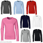 3 x Gildan Ladies Softstyle Long Sleeve T Shirt 8 Colours Sizes 8-18 100% Cotton