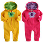"NWT Vaenait Baby Newborn Girl Fleece Hoodie Jumpsuit Onepiece ""Fragrance Flower"""