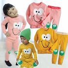 "NWT Vaenait Baby Toddler Kid Unisex In Door Sleepwear Pajama Set ""Awesome Smile"""
