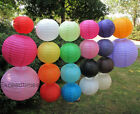 "3pcs 6pcs 8"" 10"" 12"" 14"" 16"" 18""  Wedding Round Paper Lanterns Home Decoration"
