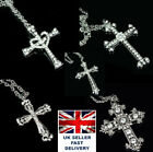Crystal Cross X Necklace Pendant. Many Designs Available!!