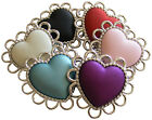 ♥ Unique Stunning Satin Acrylic Large Pendant-Connector Heart Beads ♥ lady-muck1