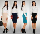 NEW ☼ Classic & Elegant Women's Office Skirt ☼ High Waist Pencil Sizes 8-12 FA71