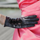 Ladies GENUINE LEATHER evening Rose Lace gloves 3 color