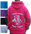 PERSONALISED GIFT HORSE RIDING HOODIE, PONY GYMKHANA KID'S ADULT'S MOUNTED GAMES