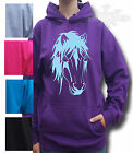 HORSE RIDING HOODIE, PONY HOODIE Equestrian IN ALL SIZE NATIVE PONY HEAD