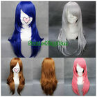 """4 colors Fashion Heat Resistant Long Straight Cosplay wigs Costume Party wig 26"""""""