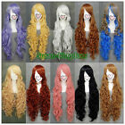 10 colors Fashion Heat Resistant Long Curly Cosplay wigs Costume Party wig 90cm