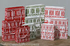 Set 3 Christmas Reindeer Gift Wrap Bags. Red & White/Green & White/White & Red..