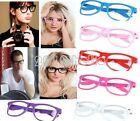 Cool !!! Candy Color Unisex Clear Lens Wayfarer Nerd Geek Glasses