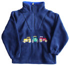 Half Zip Fleece - navy blue or red - with embroidered tractors or diggers