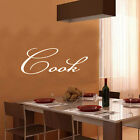 COOK kitchen sticker WALL ART STICKER decor Large
