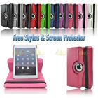 Rose Pink 360 Degree Rotating PU Leather Case Stand For Apple iPad Mini
