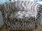 BESPOKE IKEA EKTORP TULLSTA TUB CHAIR COVER IN FAUX FUR ANIMAL VELBOA FABRIC