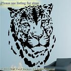 Tiger Wall Sticker Animal  Leopard Vinyl Art Decal Transfer Quote Decor Picture