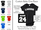 Lakers Baby One Piece - Custom Name and Number, Creeper, Onesie