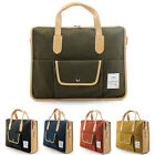 unihood Mens Canvas Faux Leather Casual Briefcases Tote Shoulder Messenger Bags