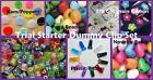 Dummy clip Refill Starter kit - 200 Pieces! Grosgrain, pony beads, kams clips