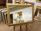 "NEW LARGE 3"" SHAPED SOLID OAK FRAMED OVERMANTLE WALL MIRRORS- VARIOUS SIZES"