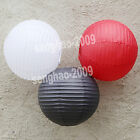 "VALUE- 36Mix (10""12"") White&Black&Red  Paper LanternsParty Wedding Decoration"