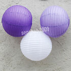 "VALUE-36Mix (10""12"")White&Lavender&Purple Paper Lantern Party Wedding Decoration"