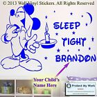 Mickey Mouse Personalised Kids Children Name Vinyl Wall Sticker Art Decal Dream