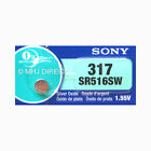 1 x Genuine Sony Silver Oxide Button Cell Watch Battery 0% Mercury [All Sizes]